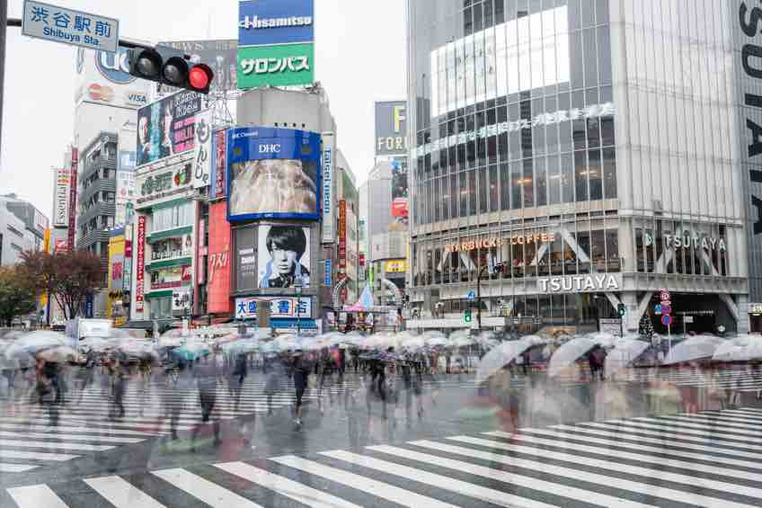 Tokyo Prefecture, Japan,Crowded,people,Shopping,street
