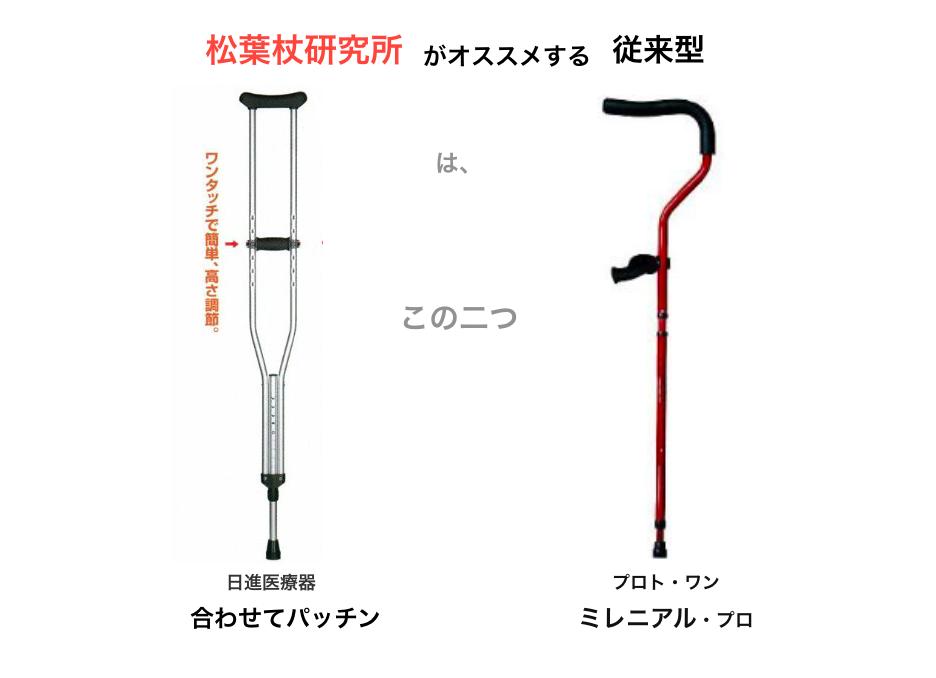 松葉杖研究所がオススメする「従来型 松葉杖」